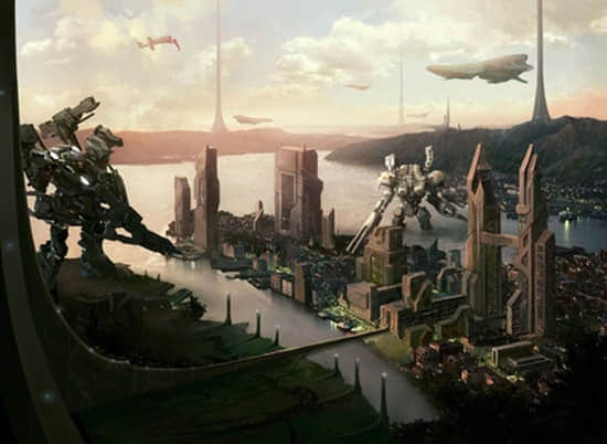 35张未来的乌托邦科技城市插图