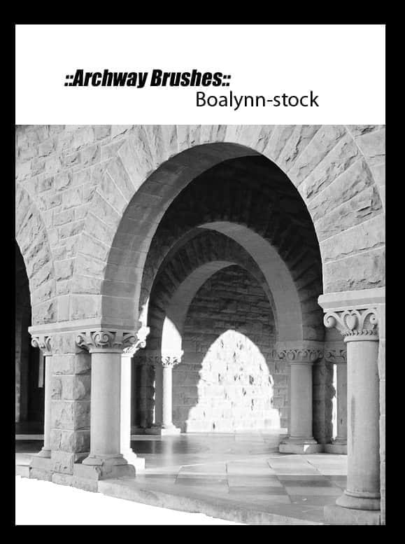 石柱拱门笔刷