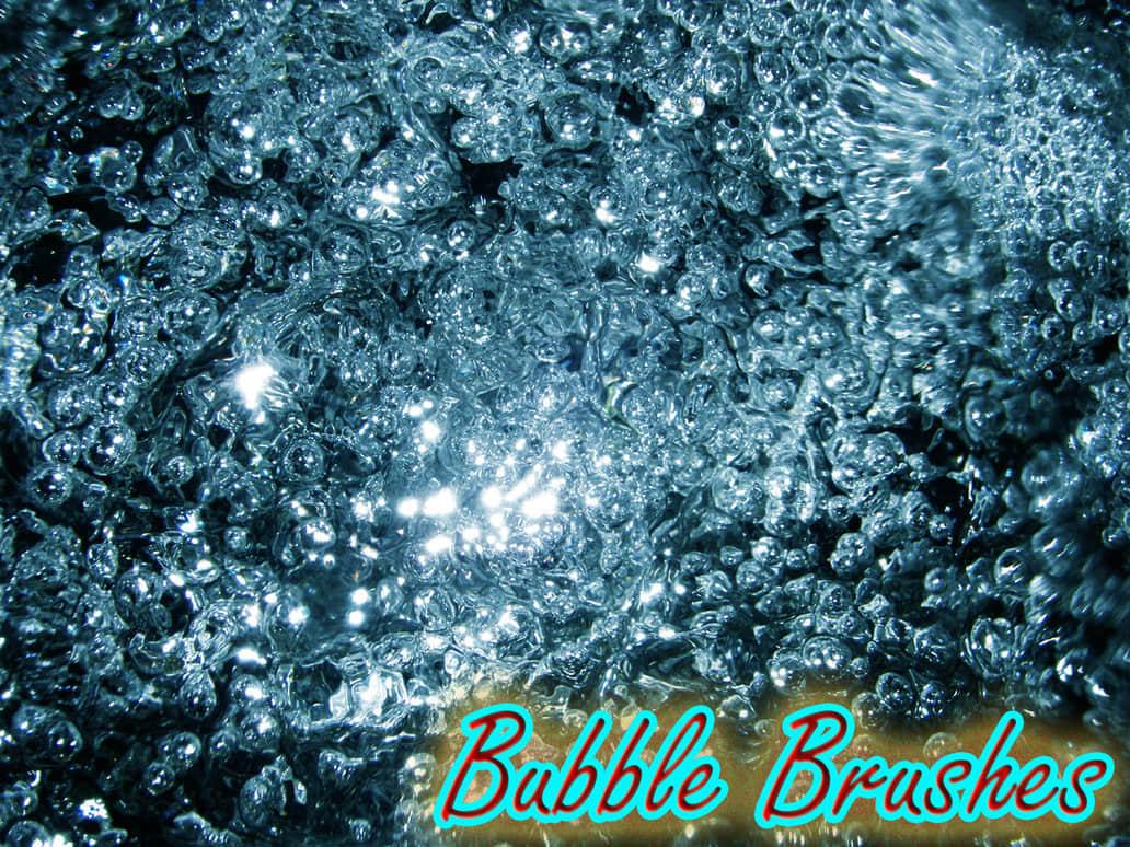 水中的泡沫水泡笔刷