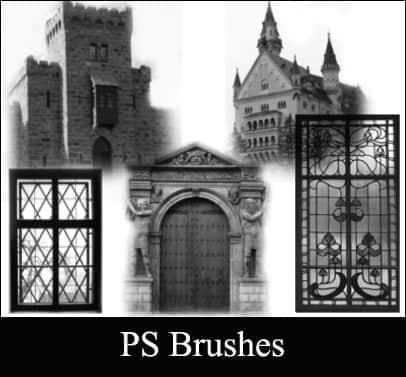 欧洲的城堡笔刷