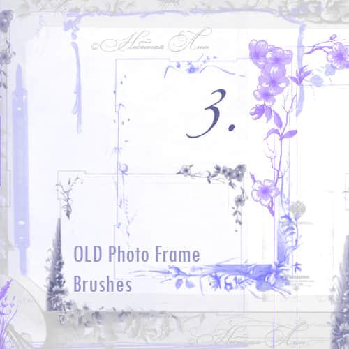 漂亮的花纹边框相框PS笔刷下载