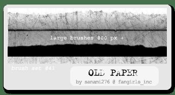 废旧的PS纸笔刷下载