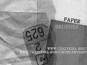 灰色纸张纸质笔刷
