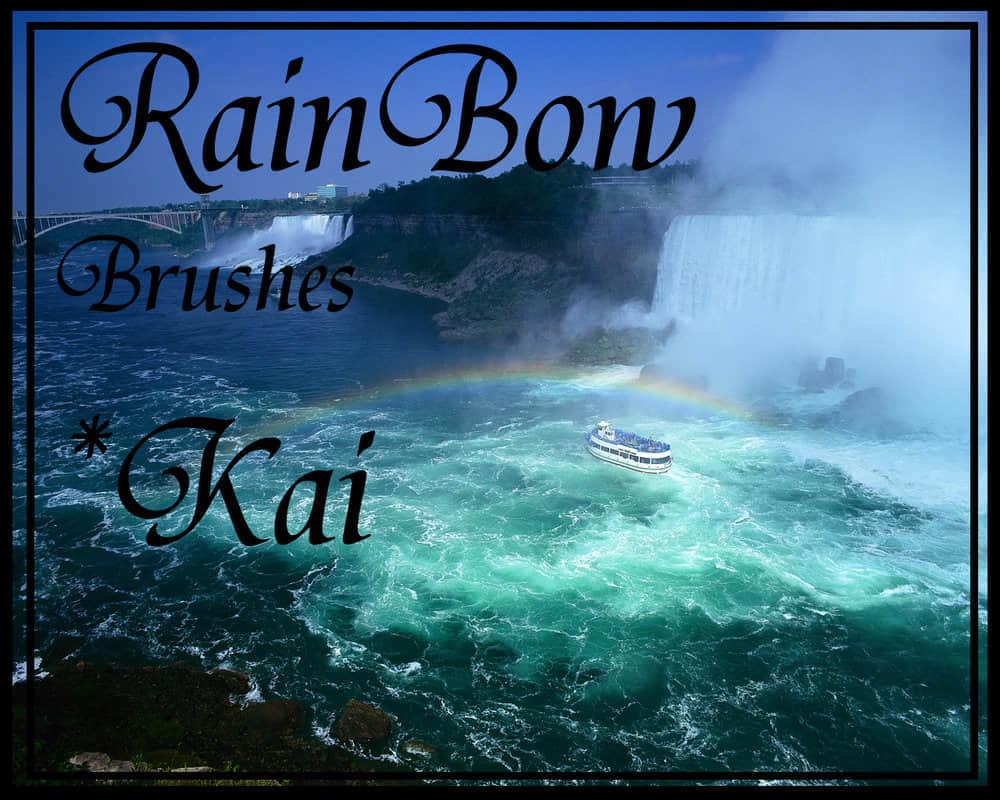美丽的风景彩虹笔刷