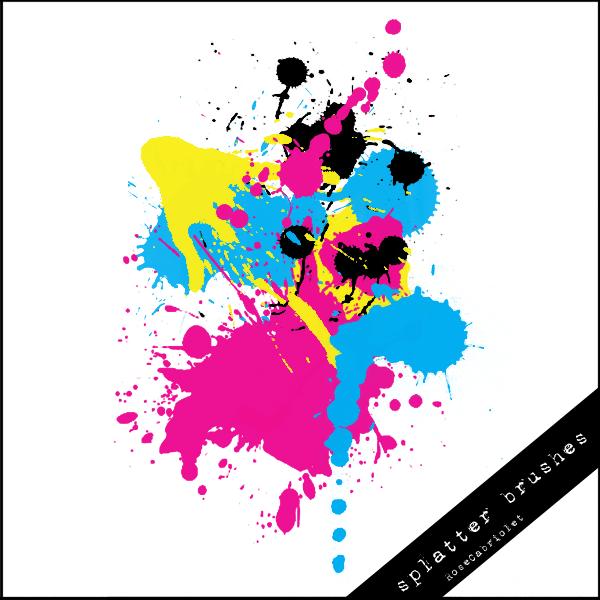 飞溅系列的油漆PS笔刷下载
