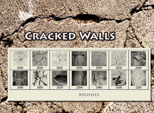 土地裂痕开裂效果笔刷