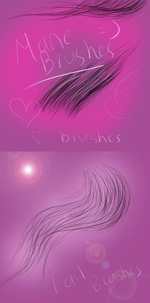 手绘式头发发丝笔刷