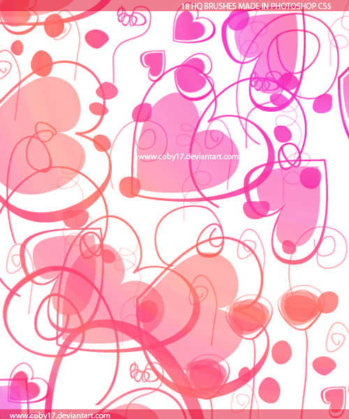 可爱的旋窝型爱心笔刷