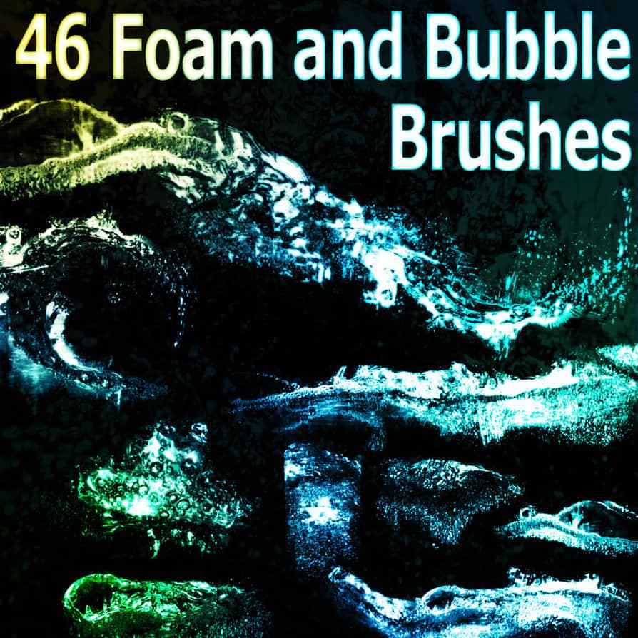 46种高质量泡沫与气泡笔刷