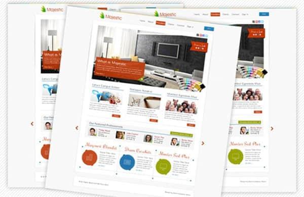 25个漂亮免费的PSD网站模版下载