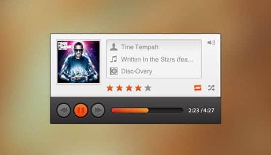 30个免费音乐视频播放器UI设计PSD源文件下载