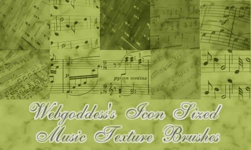 音乐符号元素PS画笔下载