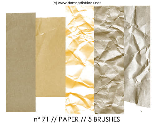 Photoshop纸张纸质效果笔刷