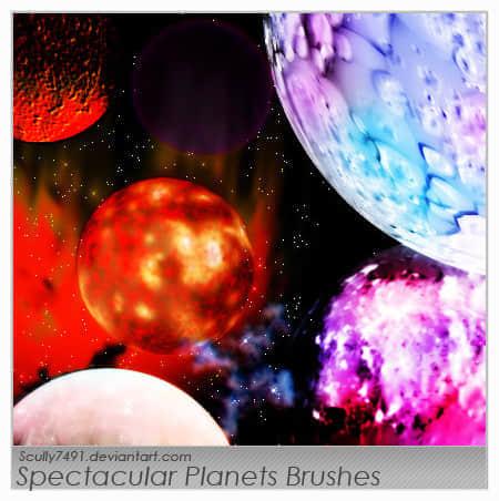 壮观的行星笔刷