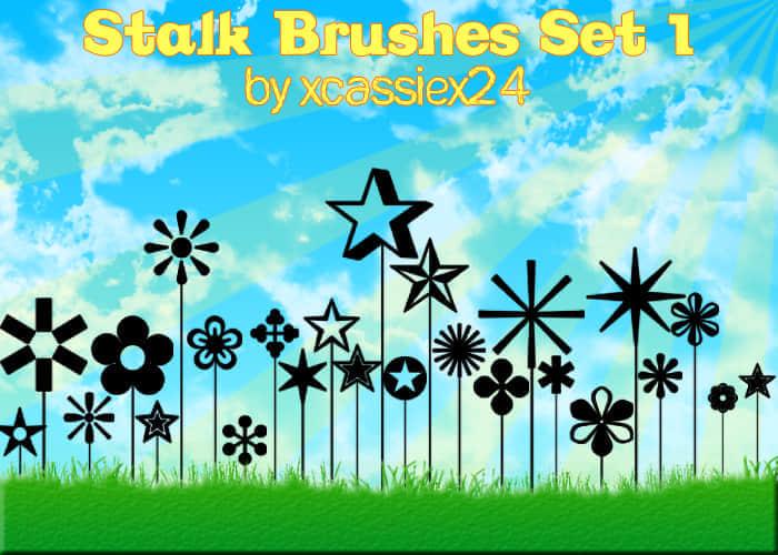 24种秸秆式符号笔刷 秸秆笔刷 星星符号笔刷  symbols brushes