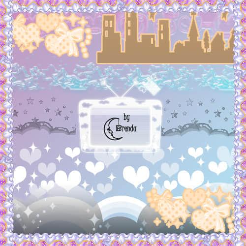 甜蜜的爱情城堡笔刷