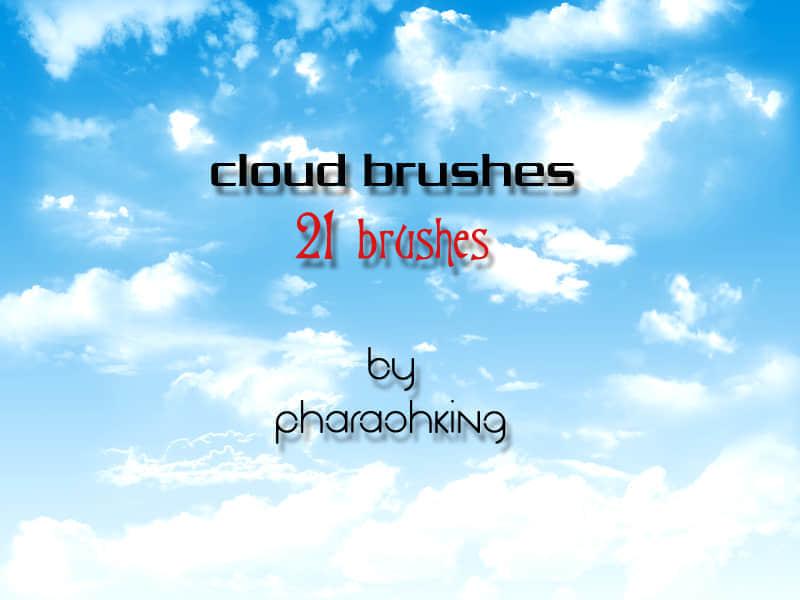 photoshop漂亮的云朵笔刷