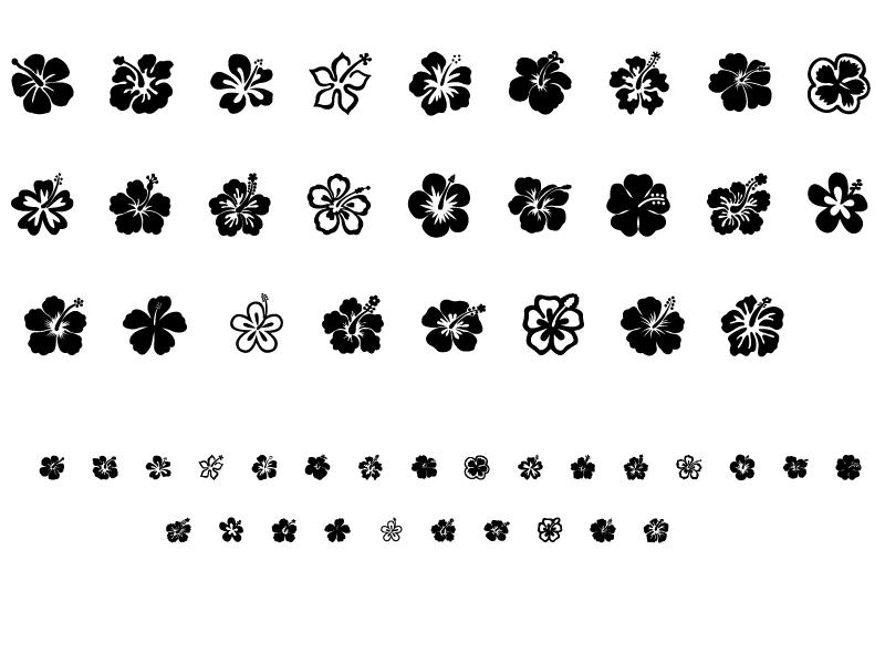 经典的印花花朵笔刷