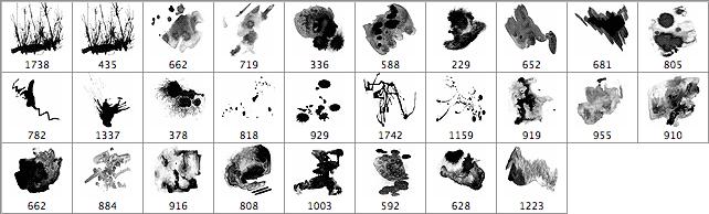 28种中国水墨画画笔效果笔刷