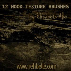 12种木材质地纹理笔刷