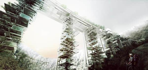 高架桥改造的度假公寓