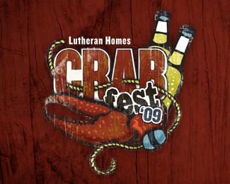 20个螃蟹Logo标识设计图
