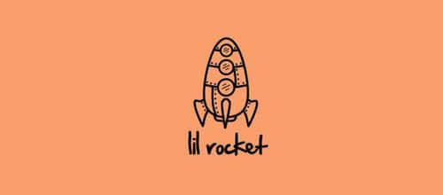 33个火箭造型Logo标志设计