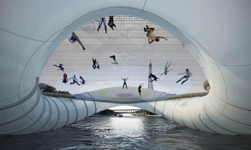新颖的气垫蹦床桥