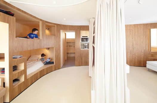 滑雪胜地里的住宅设计