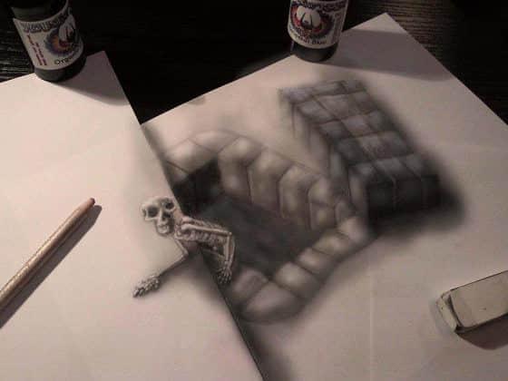 最新铅笔3D素描艺术创作欣赏