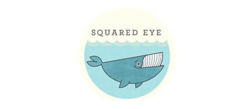 30个可爱的卡通鲸鱼Logo设计方案