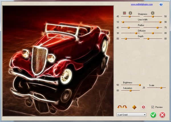 Photoshop的高级艺术图像处理插件 - RedField艺术图像插件-Redfield Fractalius v1.85