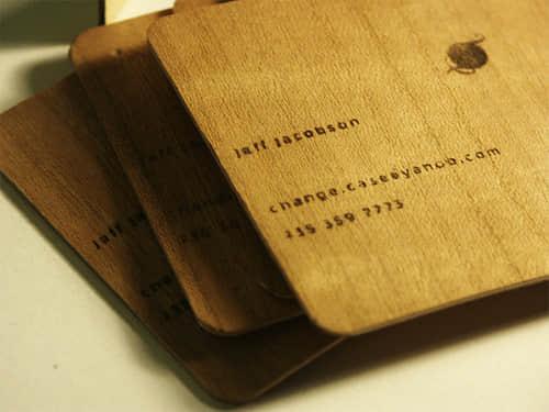 45张独特的木质名片设计欣赏
