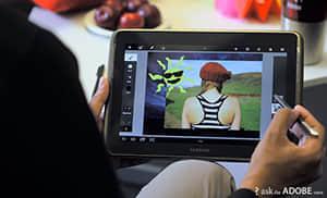 最新iPad版Photoshop Touch已经支持压敏触控笔支持 Photoshop最新技术  design information