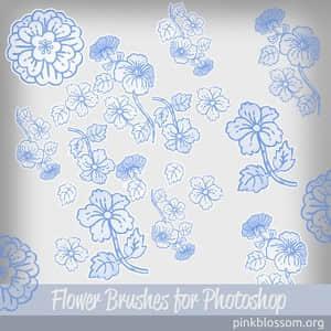 经典的Photoshop花卉印花笔刷