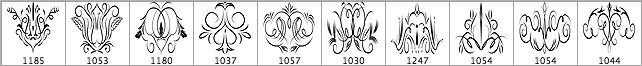 点缀式的花纹笔刷