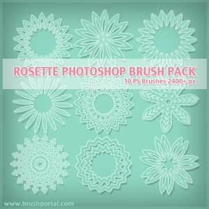 10种高品质花环效果的花纹笔刷