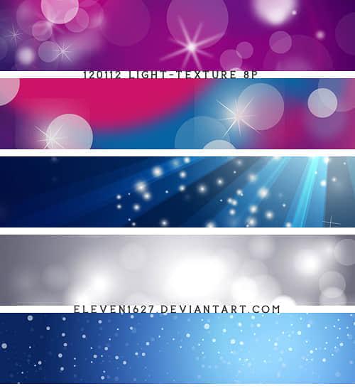 5种不同样式的背景虚化效果笔刷