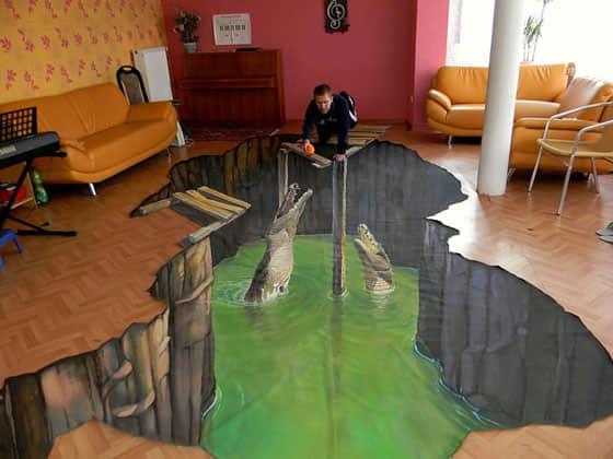 9张奇妙的街头3D涂鸦艺术欣赏 街头涂鸦艺术 3D街头艺术 3D绘画艺术  photoshop appreciation