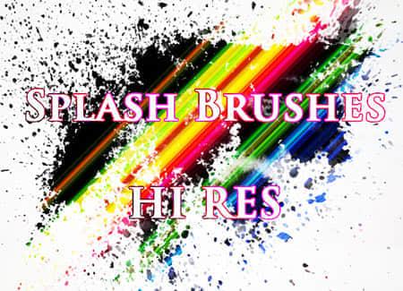 10个高分辨率飞溅PS笔刷 高清笔刷 高分辨率笔刷 飞溅笔刷  photoshop brush