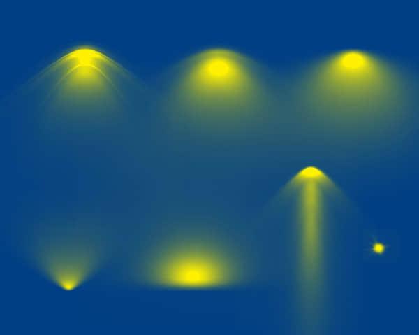 灯光效果展示笔刷