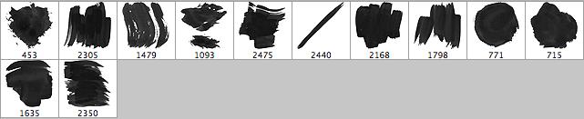 12种免费黑色油漆Photoshop笔刷