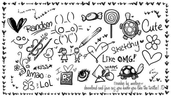 非常可爱的铅笔纯情涂鸦笔刷 铅笔涂鸦笔刷 纯情年代笔刷 爱情涂鸦笔刷 可爱笔刷 可爱的涂鸦笔刷  love brushes %e6%b6%82%e9%b8%a6%e7%ac%94%e5%88%b7