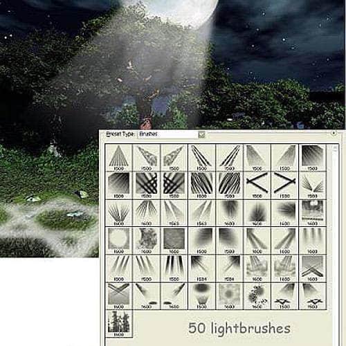 50种高级灯光照射效果笔刷