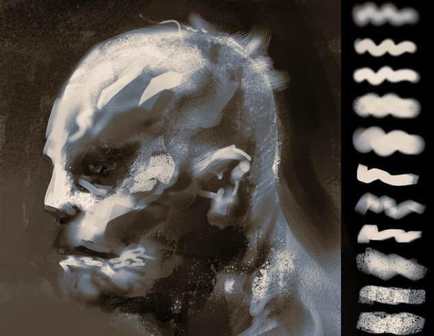 PHOTOSHOP手绘式油画笔触效果笔刷