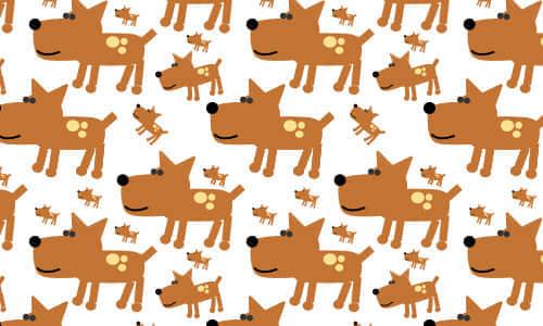 18-dog-brown-free-animal-reapet-seamless-pattern