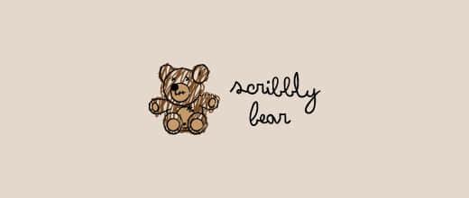 2-scribble-brown-teddy-bear-logo