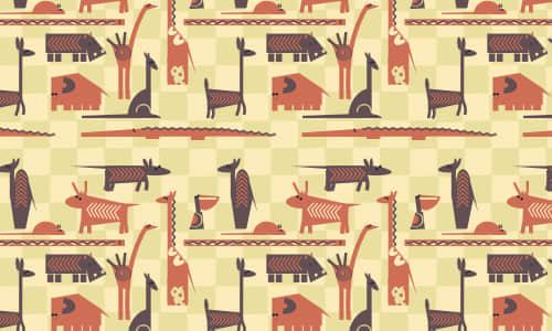 21-green-free-animal-reapet-seamless-pattern