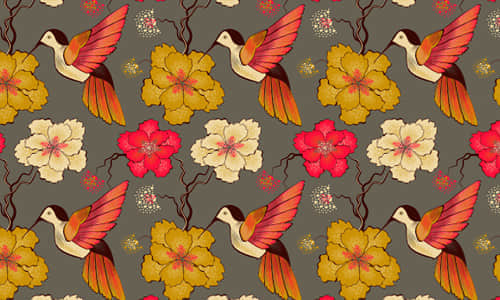 23-hummingbird-free-animal-reapet-seamless-pattern