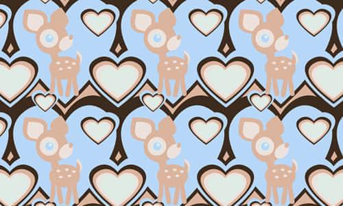 25-deer-heat-free-animal-reapet-seamless-pattern